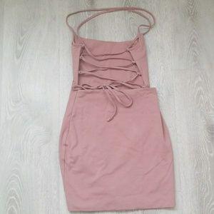 luvalot Dresses - Luvalot pink mini Bodycon dress size US4